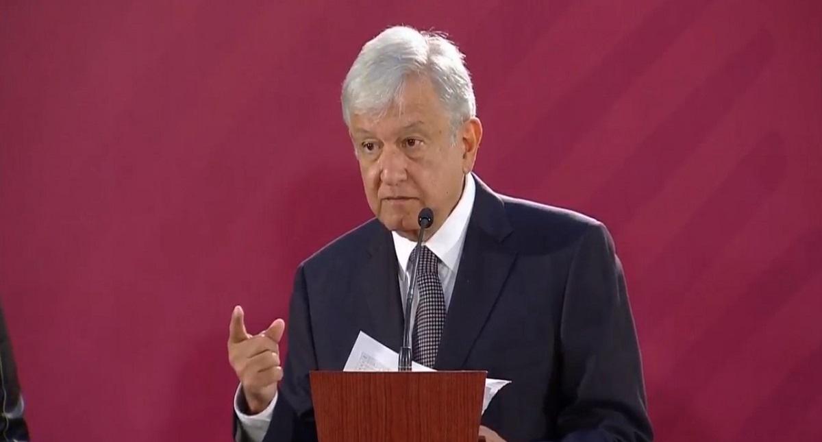 López Obrador en conferencia. Captura de pantalla