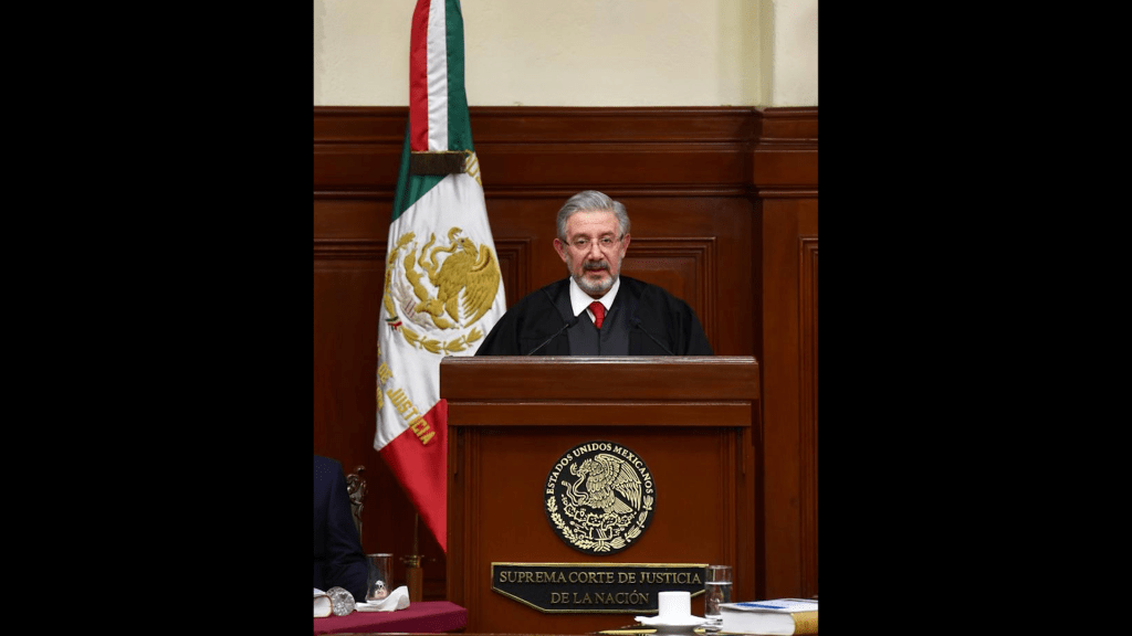 Tras contacto con positivo a COVID-19, el ministro Luis María Aguilar no asistirá al informe del ministro presidente Zaldívar - Foto de @CanalJudicial