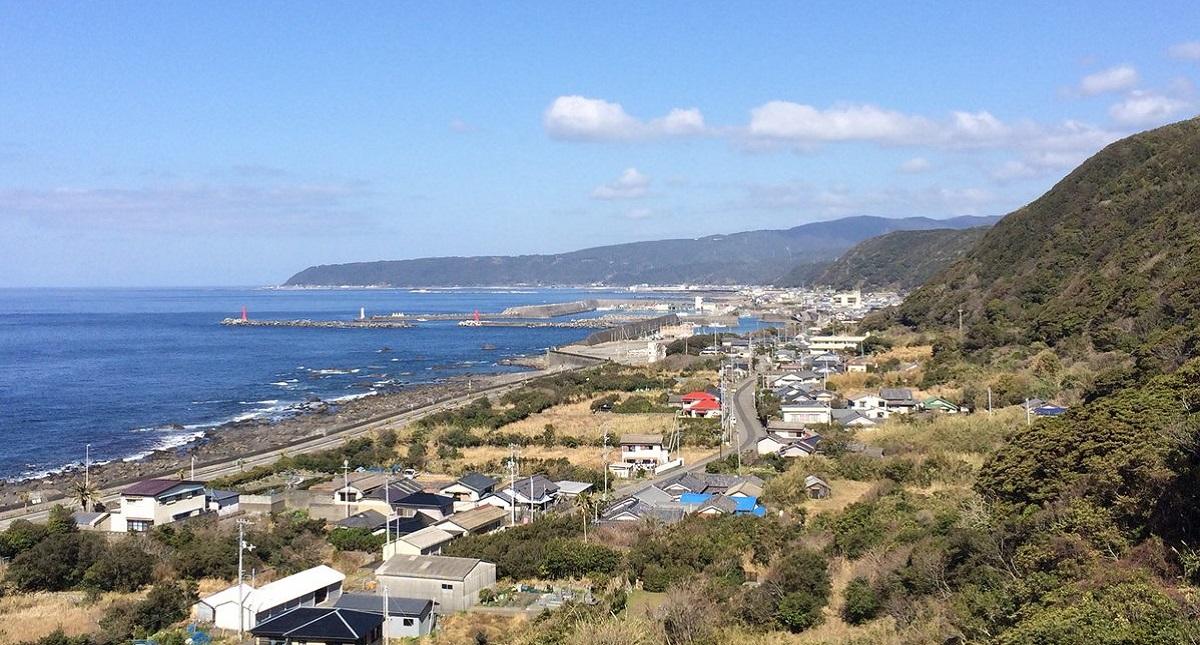 Costas del cabo de Muroto, en la isla de Shikoku, Japón. Foto de Twitter