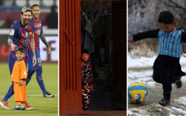 Niño afgano famoso por su playera de Messi deja su casa por la guerra - Foto de Marca