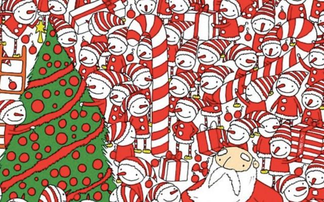 #RetoViral Encuentre el gorro de Santa Claus