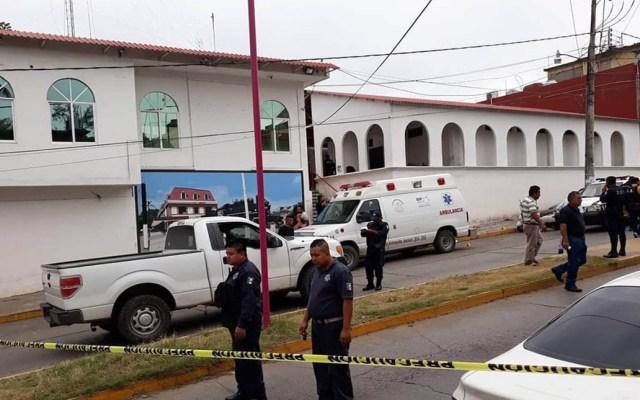 Asesinan a policía municipal en Matías Romero, Oaxaca - Palacio Municipal de Matías Romero acordonado. Foto de Twitter