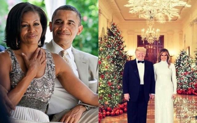 Las distintas felicitaciones navideñas de Obama y Trump - Parejas presidenciales. Foto de Instagram