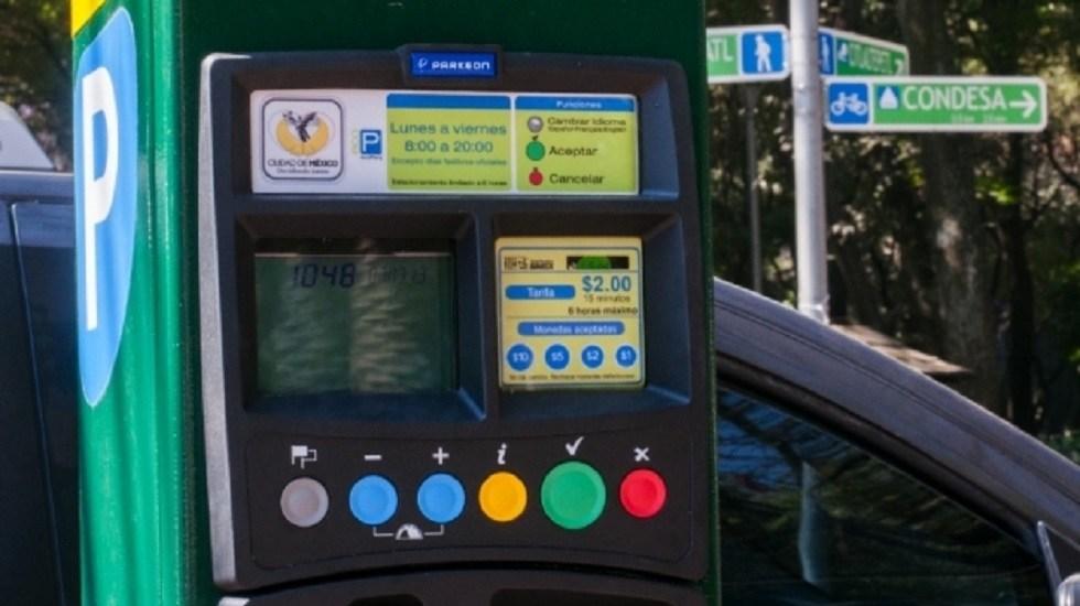Revisan concesiones de parquímetros y arañas en la Ciudad de México - Parquímetro en la CDMX. Foto de Internet