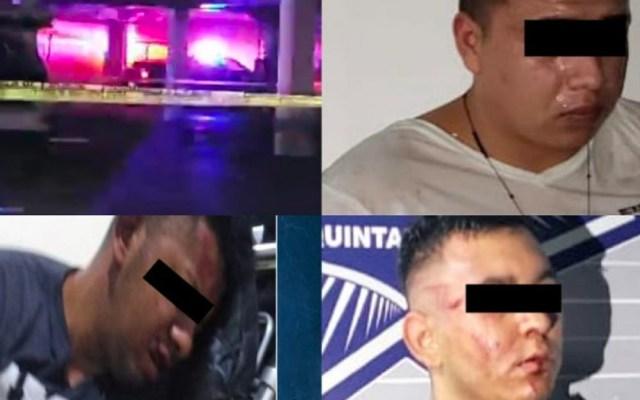 Caen tres presuntos sicarios tras homicidio y persecución en Cancún - Foto de Quadratín