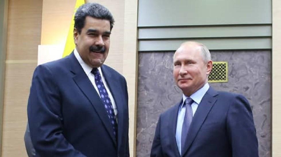Putin accede a apoyar a Venezuela en reunión con Maduro - Encuentro Putin-Maduro. Foto de @CancilleriaVE