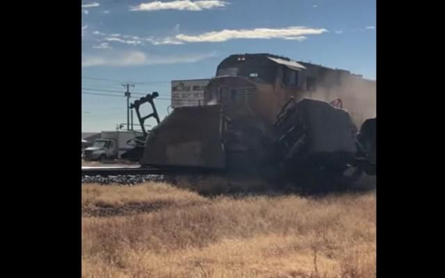 #Video Tren arrastra a camioneta en Texas - #Video Tren arrastra a camioneta en Texas