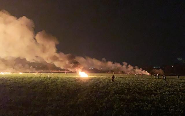 Explosión en ducto de Tlahuelilpan, Hidalgo. - Aspectos de la explosión de un ducto perforado de Pemex en Tlahuelilpan, Hidalgo. Foto de AFP.