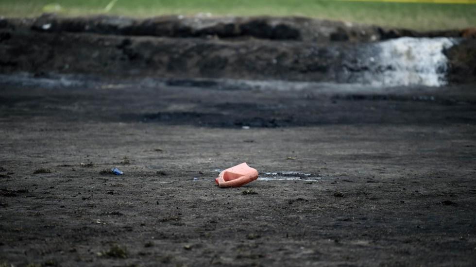 Mueren tres víctimas de Tlahuelilpan en hospitales del ISSSTE - Tlahuelilpan. Foto de AFP / Alfredo Estrella