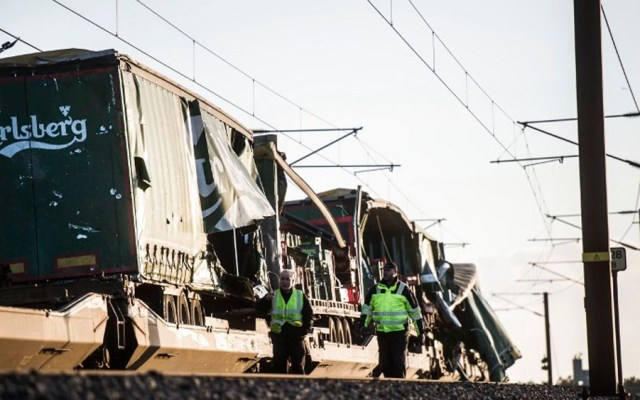 Accidente de tren deja seis muertos en Dinamarca - Foto de AFP