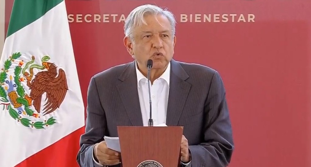 López Obrador propone bancarizar a siete millones de jóvenes - AMLO desde Acambay. Captura de pantalla