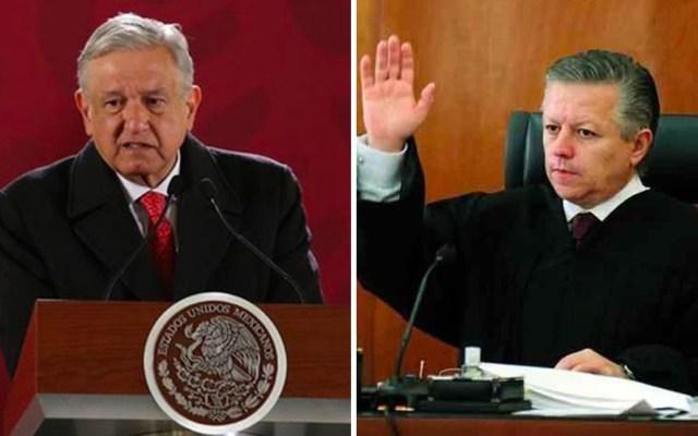 Zaldívar es un hombre íntegro: AMLO tras presuntas presiones al Poder Judicial - AMLO y el ministro Arturo Zaldívar. Foto Especial