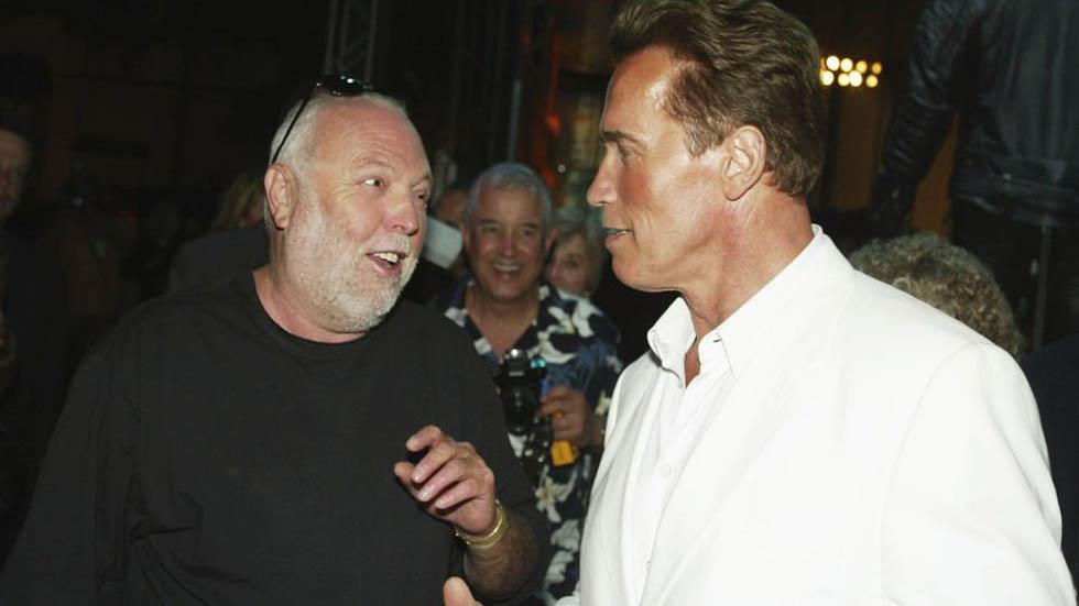 Andy Vajna con Arnold S. Foto de Internet