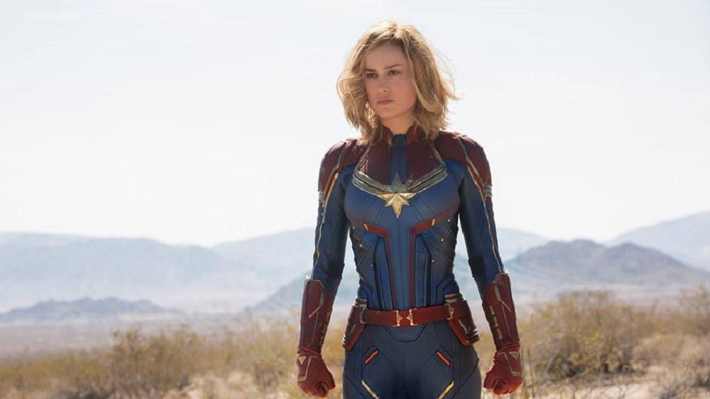 Brie Larson como Capitana Marvel. Foto de @CaptainMarvelOfficial