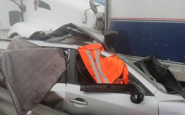 Carambola deja tres muertos y 12 heridos en la Puebla-Córdoba - Foto de Noticieros Televisa