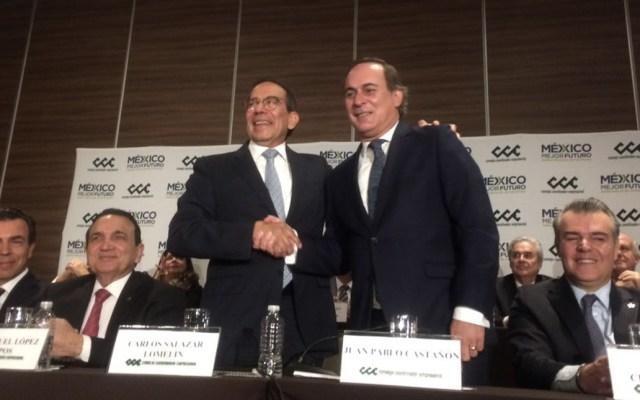 El Consejo Coordinador Empresarial (CCE) eligió a Carlos Salazar Lomelín como presidente del organismo - Foto de Twitter CCE