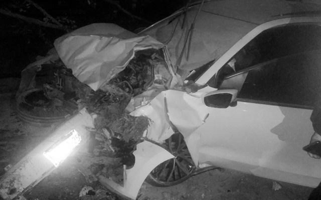 Choque deja dos muertos en la colonia Hipódromo - Foto de @MrElDiablo8