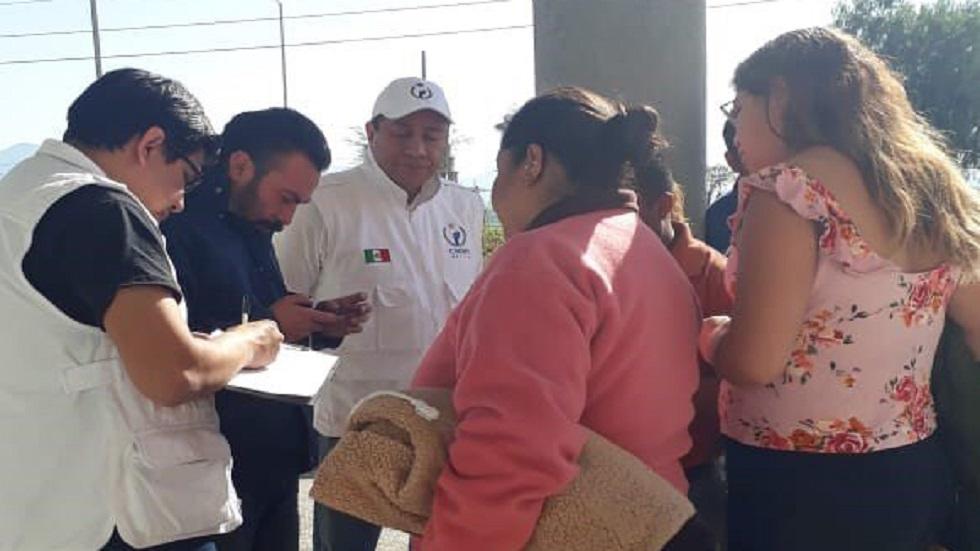 CNDH con familiares de víctimas de la explosión. Foto de @CNDH