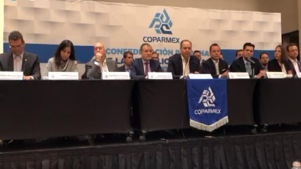 Conferencia Coparmex. Captura de pantalla