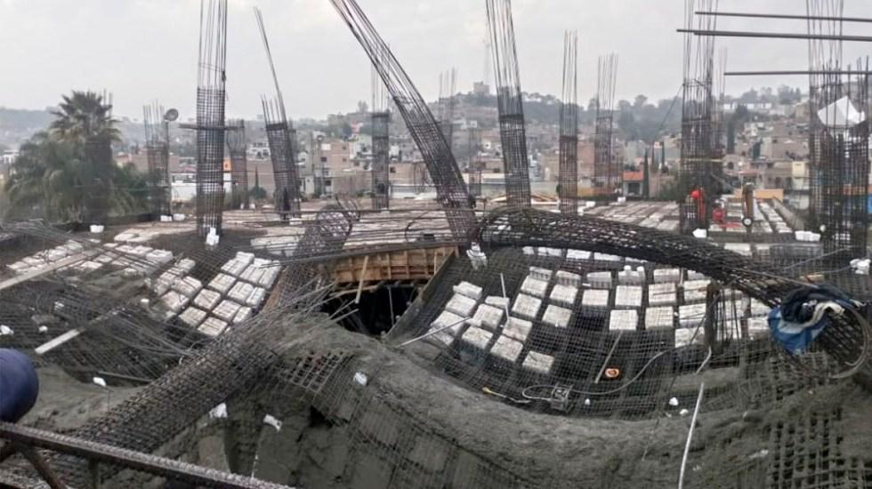 Derrumbe en construcción deja ocho heridos en Jalisco - Foto de @PCJalisco