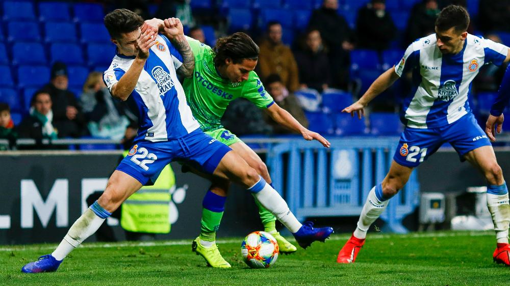 """""""Cuando toma el balón tiene cosas"""": Setién sobre Lainez - Lainez disputa balón frente al Espanyol"""