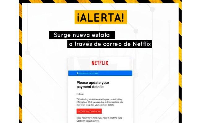 Alertan nueva forma de robo de datos bancarios a través de Netflix