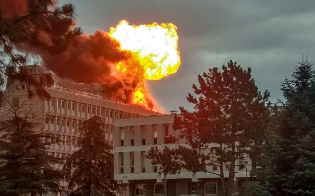Explosión deja al menos tres heridos en la Universidad de Lyon - Foto de Romain CHANU / AFP