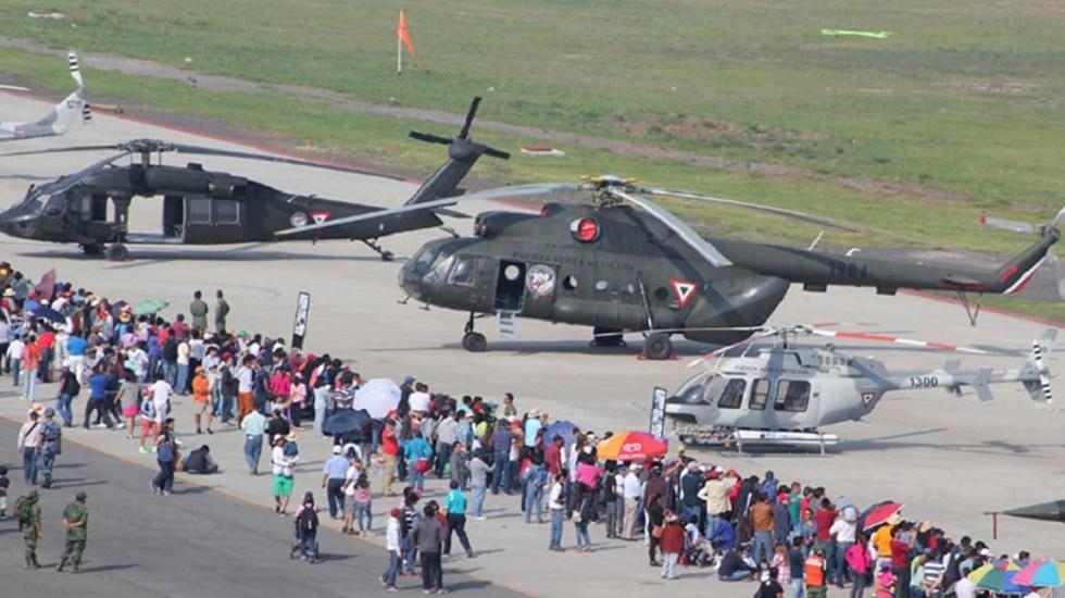 Harán feria en Santa Lucía para vender aeronaves federales - Feria de la Fuerza Aérea en la Base de Santa Lucía. Foto de Internet