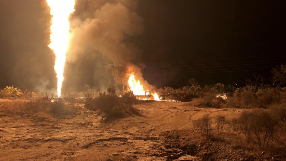 Controlan incendio en ducto de Pemex en Hidalgo - Foto de @SSP_Hidalgo