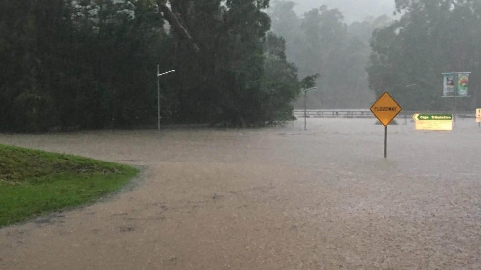 Francisco envía condolencias a afectados por inundaciones en Australia - Inundación al norte de Queensland, Australia. Foto de @DouglasShireC