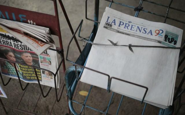 Periódico en Nicaragua protesta contra el gobierno con portada en blanco - Foto de AFP