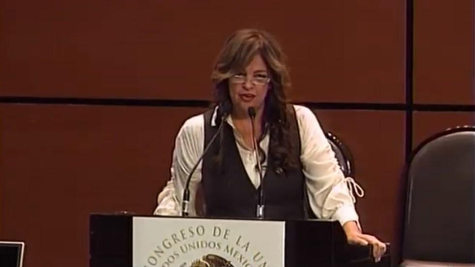 Congreso exhorta a Fiscalía de Guerrero esclarecer homicidio de mandos - Diputada Lorena Villavicencio. Captura de pantalla