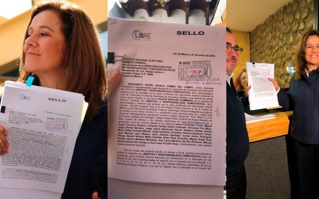 Margarita Zavala inicia trámites en el INE para registrar partido - La esposa del expresidente Felipe Calderón presentó este lunes los documentos para el registro del partido México Libre. Foto de López-Dóriga Digital