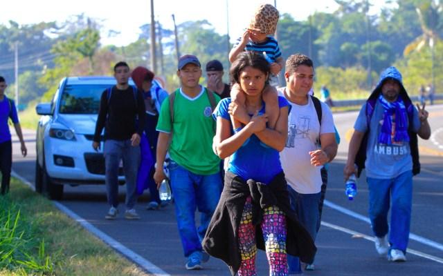 Honduras reclama a México por incentivar caravanas migrantes - Caravana Migrante. Foto de Notimex