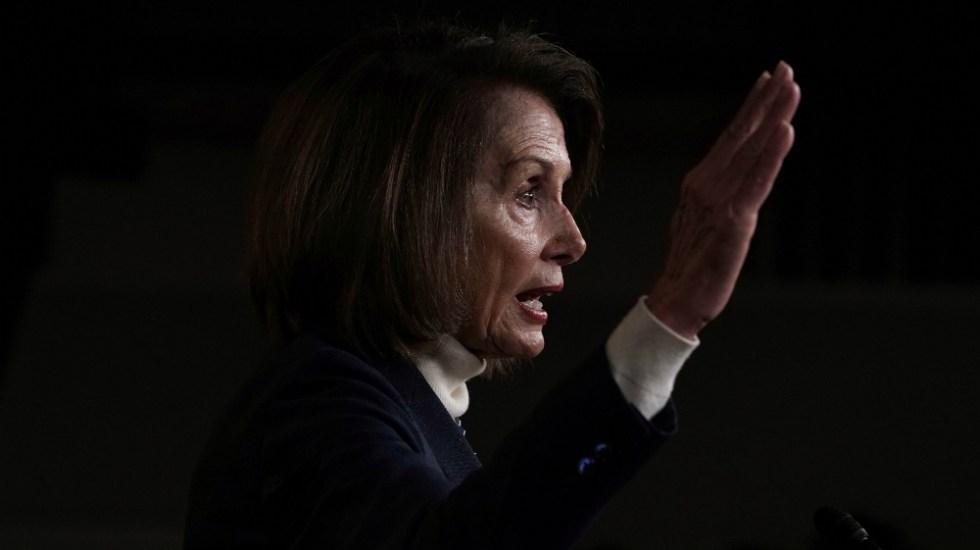 """Propuesta de Trump """"no da ni para empezar a hablar"""": Pelosi - Foto de AFP"""