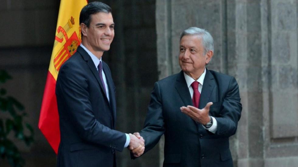 Crisis en Venezuela no tiene por qué afectar relación con México: España - Pedro Sánchez y AMLO, presidentes de España y México. Foto de Twitter