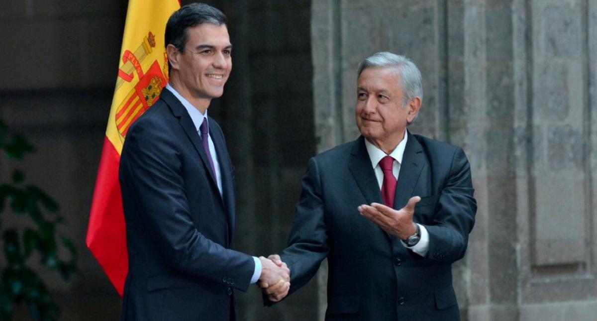 Pedro Sánchez y AMLO, presidentes de España y México. Foto de Twitter