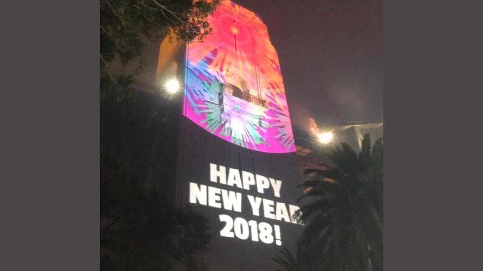 Sidney celebra por error al 2018 en lugar del 2019 - Foto de Twitter