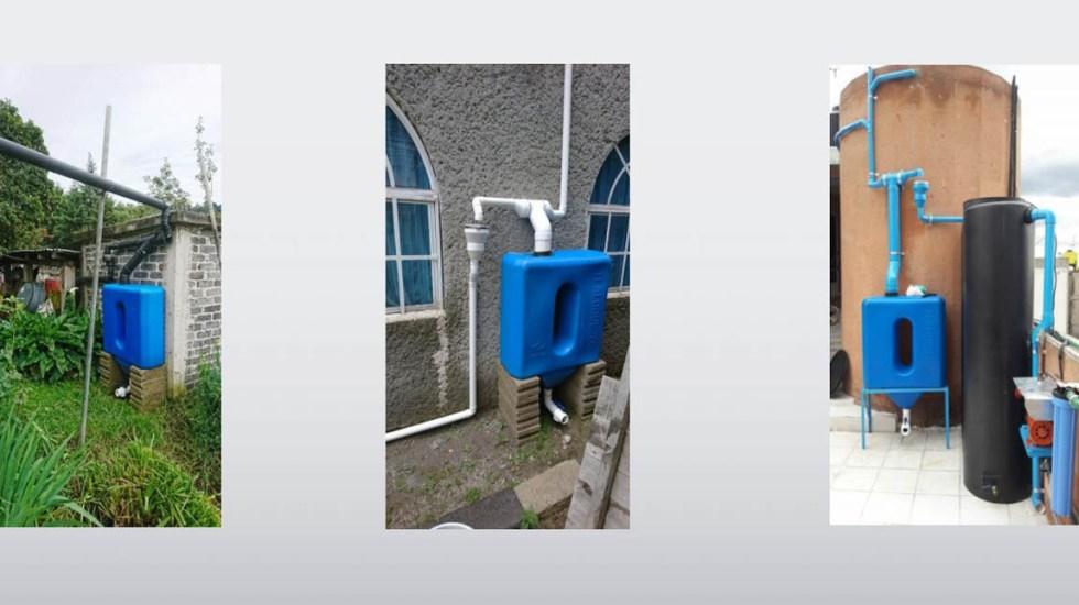 Arranca programa de captación de agua de lluvia en CDMX - Sistema de captación de agua de lluvia. Captura de pantalla