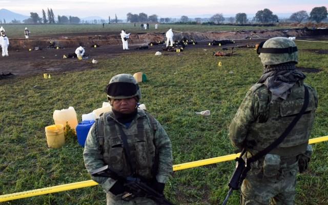 Cierran ciclo de alerta en caso Tlahuelilpan - Foto de AFP