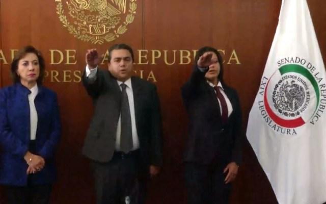 Rinden protesta senadores suplentes del Moreno Valle y Angélica García Arrieta - Rinden protesta senadores suplentes