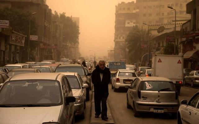 Tormenta de arena en El Cairo - Foto de EPA