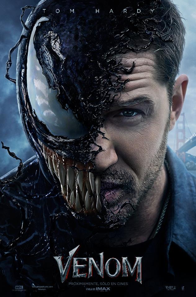 Poster de Venom con Tom Hardy. Foto de @VenomLaPelicula