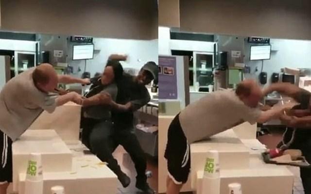 #Video Sujeto agrede a empleada de McDonald's en Florida - Captura de Pantalla