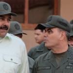 Ejército de Venezuela rechaza autoproclamación de Guaidó como presidente - Nicolás Maduro y Vladimir Padrino. Foto de Internet