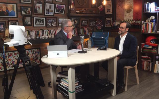 Anuncian relanzamiento de la agencia EFE. - En entrevista con Joaquín López-Dóriga, Fernando Garea anunció el relanzamiento de la agencia EFE en América Latina.