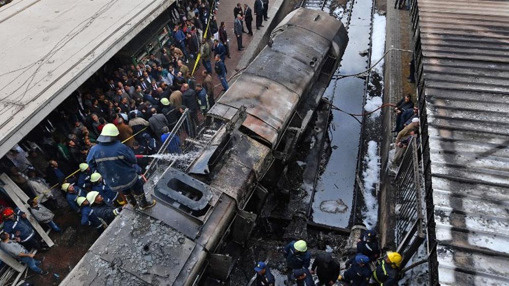 Accidente de tren en El Cairo deja, al menos, 25 muertos