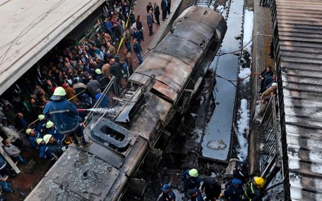 #Video Accidente en estación de tren deja 20 muertos en El Cairo - Foto de AFP