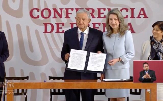 AMLO suscribe acuerdo con la ONU para termoeléctrica de Morelos - Acuerdo con la Unesco sobre la termoeléctrica de Huexca. Captura de pantalla
