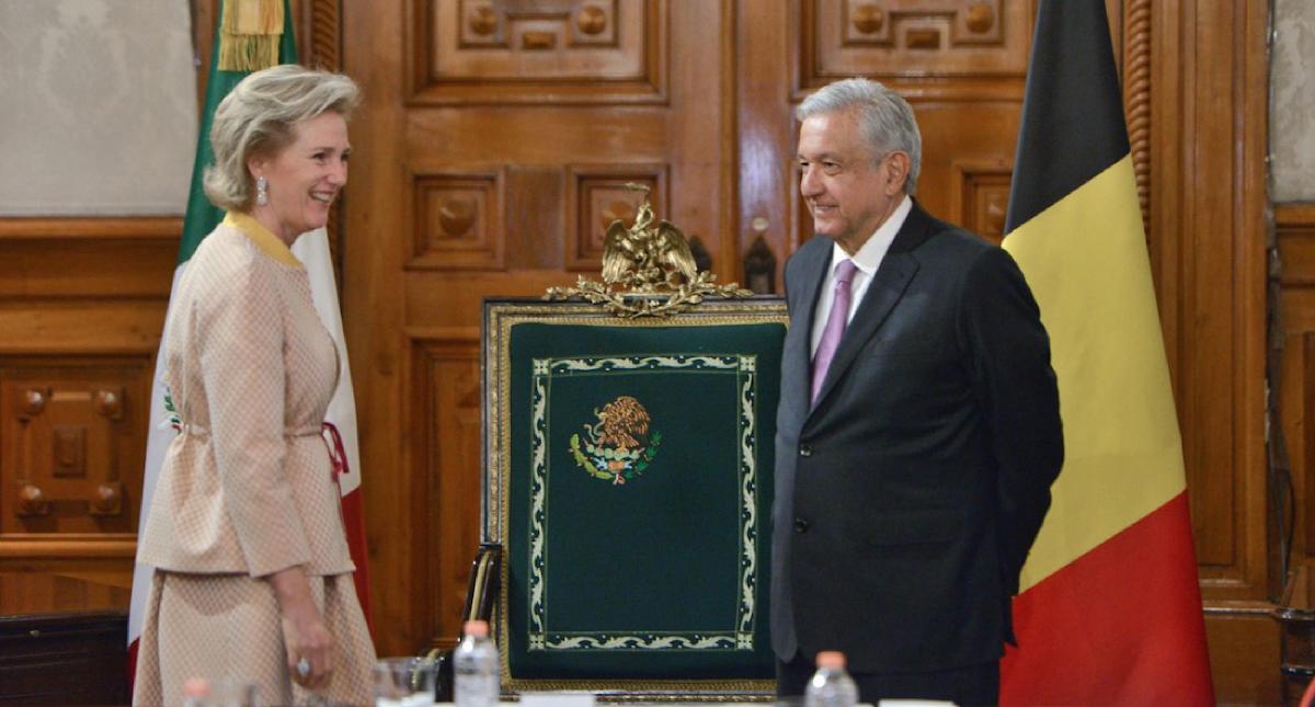 AMLO se reúne con la princesa Astrid de Bélgica en Palacio Nacional